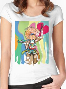 Art Chick Paint Shirt Women's Fitted Scoop T-Shirt