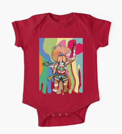 Art Chick Paint Shirt Kids Clothes
