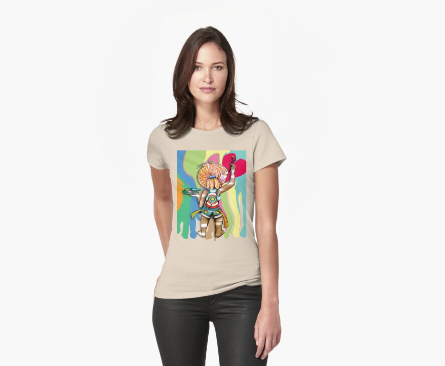 Art Chick Paint Shirt by © Karin Taylor