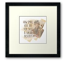 Merlin - How Small you are for such a Great Destiny Framed Print