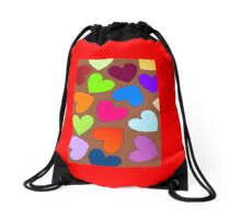 Hearts Hearts Hearts by 'Chillee Wilson' Drawstring Bag
