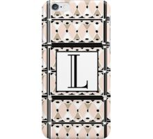 1920s Pink Champagne Gatsby Monogram letter L iPhone Case/Skin