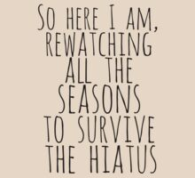 so here i am, rewatching all the seasons to survive the hiatus by FandomizedRose