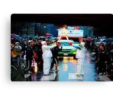 2010 Winter Olympics Torch Relay Canvas Print
