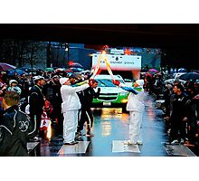 2010 Winter Olympics Torch Relay Photographic Print