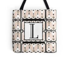 1920s Pink Champagne Gatsby Monogram letter L Tote Bag