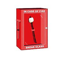Break in case of fire Photographic Print