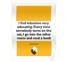 On Books - Groucho Marx Poster