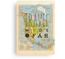 Travel Wide & Far - North America Canvas Print