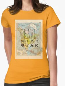 Travel Wide & Far - North America Womens Fitted T-Shirt