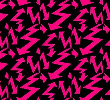 Retro 80's Lightning Arrow by 'Chillee Wilson'  by ChilleeWilson