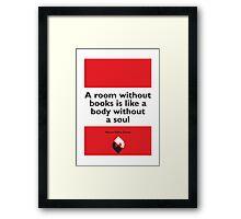 On Books - Marcus Tullius Cicero Framed Print