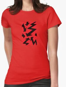 Retro 80's Lightning Arrow by 'Chillee Wilson'  Womens Fitted T-Shirt