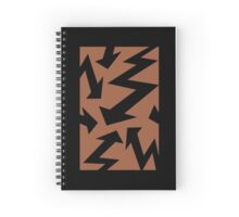 Retro 80's Lightning Arrow by 'Chillee Wilson'  Spiral Notebook