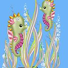 Cute Little Seahorses  by LoneAngel