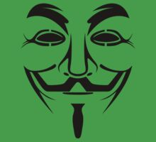 Anonymous Mask T-Shirt, Hoodie, Baby Clothes & Sticker by 'Chillee Wilson' by ChilleeWilson
