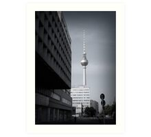 Early morning trek to the Fernsehturm. Art Print