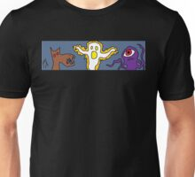 """Primitive Entertainment Workshop Banner"" by Richard F. Yates Unisex T-Shirt"