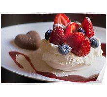 'Valentine'... Berry Dessert  Poster