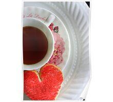 Tea & cookie- card Poster