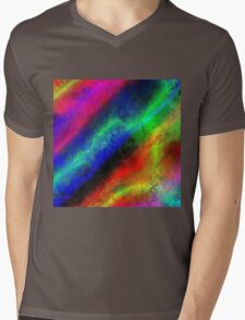 Rainbow Frost Mens V-Neck T-Shirt