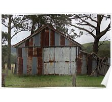 Front of Old Shed Poster