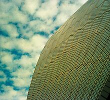 Opera House Tiles and Sky by Juilee  Pryor