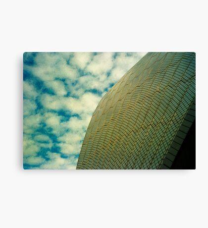 Opera House Tiles and Sky Canvas Print