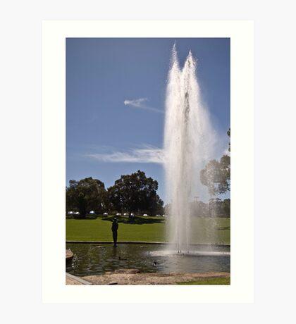 Gushing Fountain - Kings Park Art Print