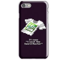 Sword Master T-Shirt iPhone Case/Skin