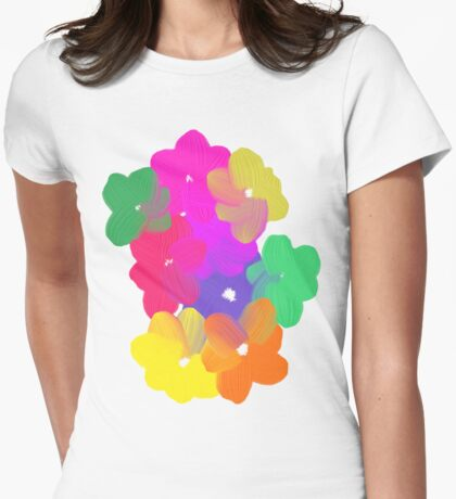 Magic Flowers Womens Fitted T-Shirt