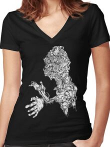 Robot gyro Women's Fitted V-Neck T-Shirt