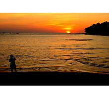 Photographing Phuket's magnificent sunset Photographic Print