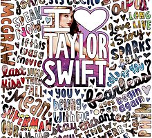 Taylor Swift Songs Photo Collage by lyrics-and-such
