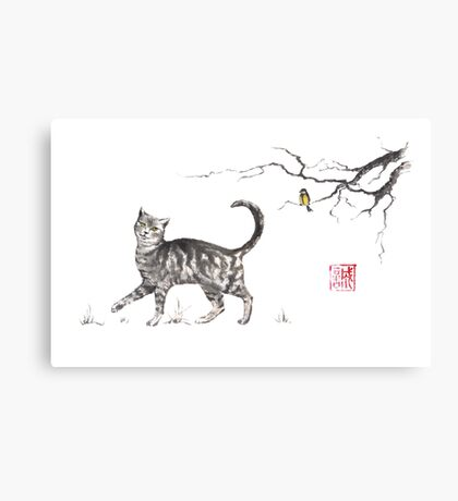 Play it cool sumi-e painting Canvas Print