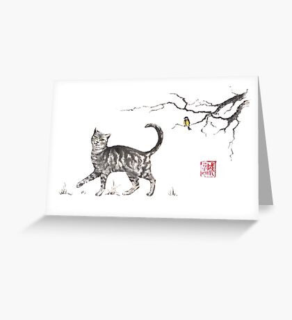 Play it cool sumi-e painting Greeting Card