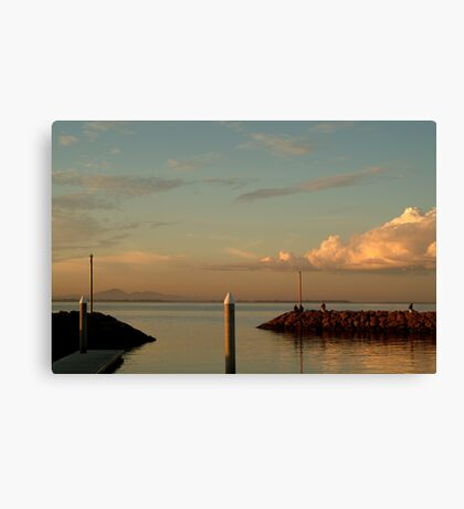 Last Ray's Limberners Point,Geelong Canvas Print