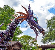 Maleficent Dragon from the Festival of Fantasy Parade at the Magic Kingdom, Walt Disney World by Russell102