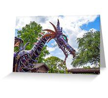Maleficent Dragon from the Festival of Fantasy Parade at the Magic Kingdom, Walt Disney World Greeting Card