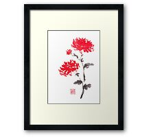 Royal pair sumi-e painting Framed Print