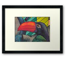 Toucan Graffiti Framed Print
