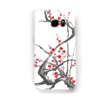 Chinese plum tree blossom sumi-e painting Samsung Galaxy Case/Skin