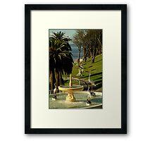 Fountain,Eastern Beach Framed Print