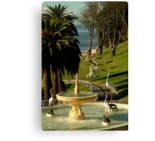 Fountain,Eastern Beach Canvas Print