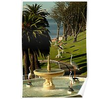 Fountain,Eastern Beach Poster