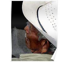 Sleeping on the bus, Oaxaca, Mexico Poster