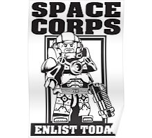 SPACE CORPS - ENLIST TODAY! Poster