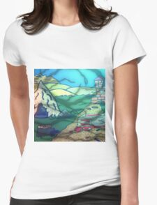 HUNTED VILLAGE  Womens Fitted T-Shirt