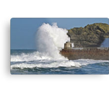 """ 4 hours after High Tide & it's still rough"" Metal Print"