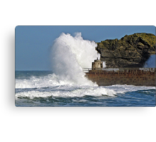 """"""" 4 hours after High Tide & it's still rough"""" Canvas Print"""